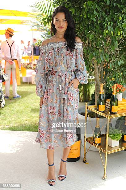 Model Shanina Shaik attends the Ninth Annual Veuve Clicquot Polo Classic at Liberty State Park on June 4 2016 in Jersey City New Jersey