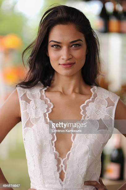 Model Shanina Shaik attends the seventh annual Veuve Clicquot Polo Classic in Liberty State Park on May 31 2014 in Jersey City City