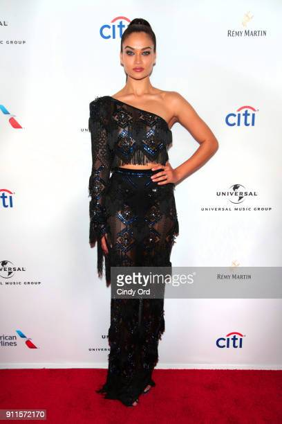 Model Shanina Shaik attends the Universal Music Group's 2018 After Party to celebrate the Grammy Awards presented by American Airlines and Citi at...
