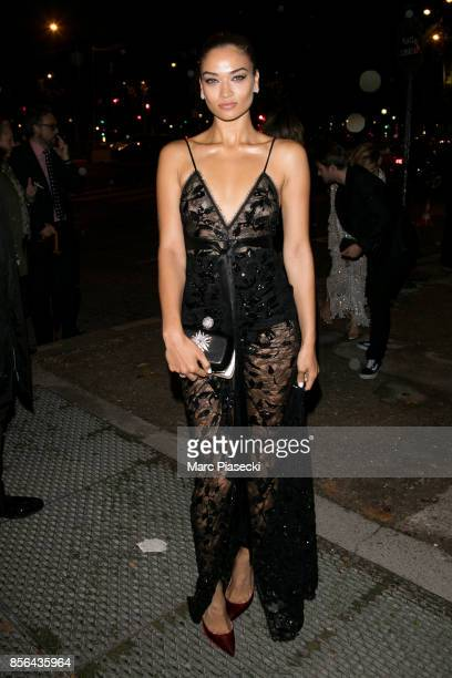 Model Shanina Shaik attends Vogue Party as part of the Paris Fashion Week Womenswear Spring/Summer 2018 at on October 1 2017 in Paris France