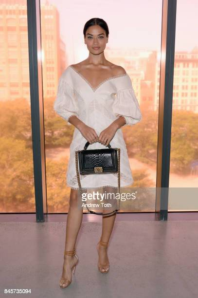 Model Shanina Shaik attends Zimmermann fashion show during New York Fashion Week The Shows at Spring Studios on September 11 2017 in New York City