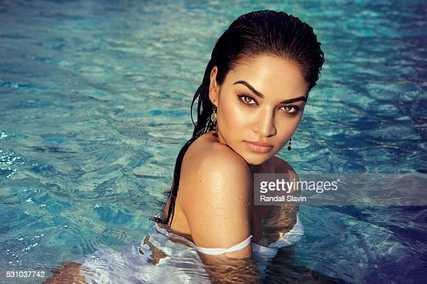 Model Shanina Shaik is photographed for Ocean Drive Magazine on December 21 2015 in Hollywood Florida