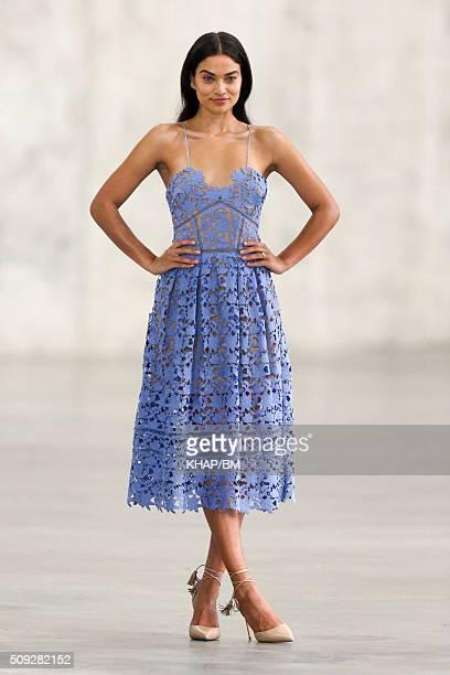 Model Shanina Shaik is seen during a photo shoot on February 10 2016 in Sydney Australia
