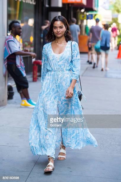 Model Shanina Shaik is seen in Midtown on August 3 2017 in New York City