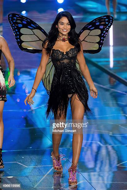 Model Shanina Shaik walks the runway during the 2015 Victoria's Secret Fashion Show at the Lexington Armory on November 10 2015 in New York City
