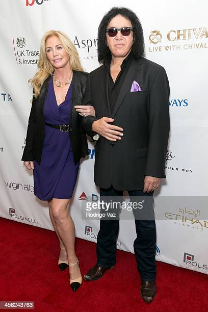 Model Shannon Tweed and musician Gene Simmons attend the The British American Business Council Los Angeles 54th Annual Christmas Luncheon at Fairmont...
