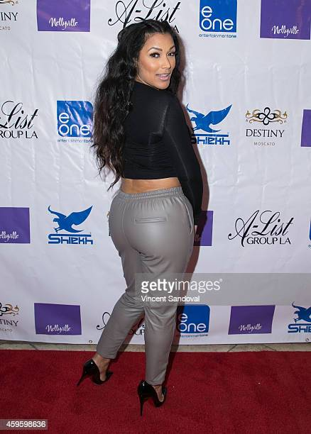 Model Shantel Jackson attends eOne and BET present Nellyville premiere party at OHM Nightclub on November 25 2014 in Hollywood California
