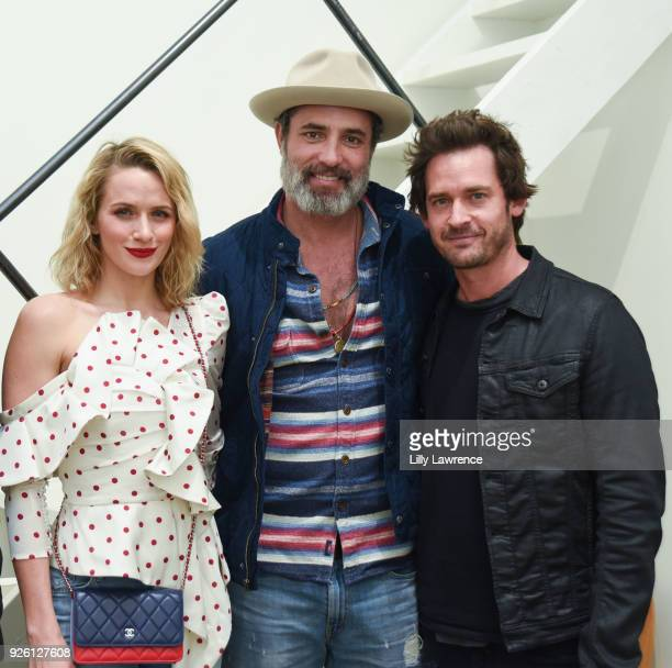 Model Shantel VanSanten, actor Victor Webster and actor Will Kemp attend Charcoal Collection by Corran Brownlee opening reception on March 1, 2018 in...