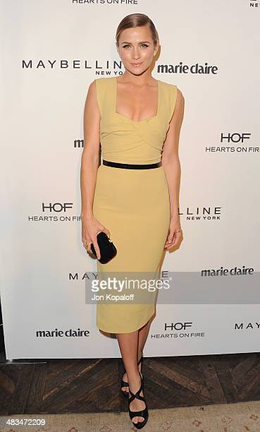 Model Shantel VanSanten arrives at Marie Claire's Fresh Faces Party at Soho House on April 8 2014 in West Hollywood California