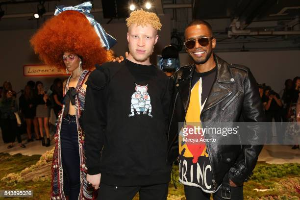 Model Shaun Ross and actor Eric West attend the Laurence Chico presentation during New York Fashion Week The Shows at Gallery 3 Skylight Clarkson Sq...