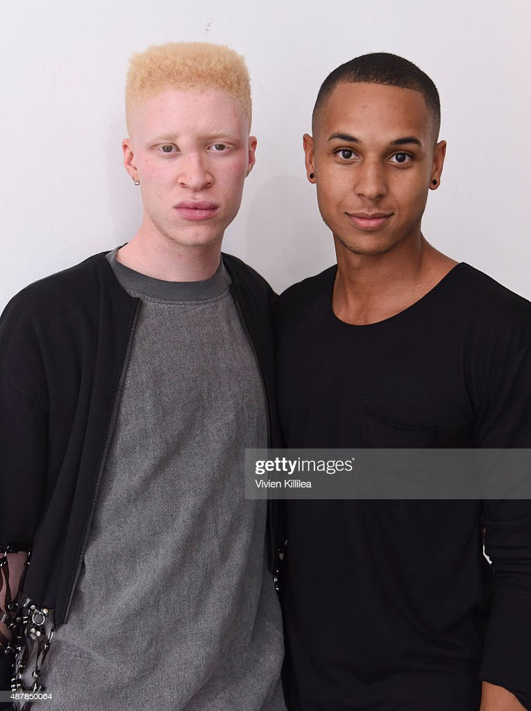 Model Shaun Ross and Devin Harrison attend Mr. Shaun Ross Presentation during Spring 2016 New York Fashion Week at Splashlight Studios on September 11, 2015 in New York City.