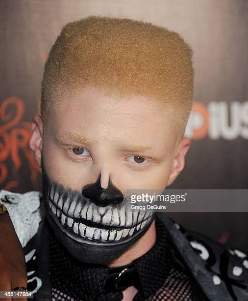 60100e8a Model Shaun Ross arrives at the Los Angeles premiere of Horns at ArcLight  Hollywood on October.