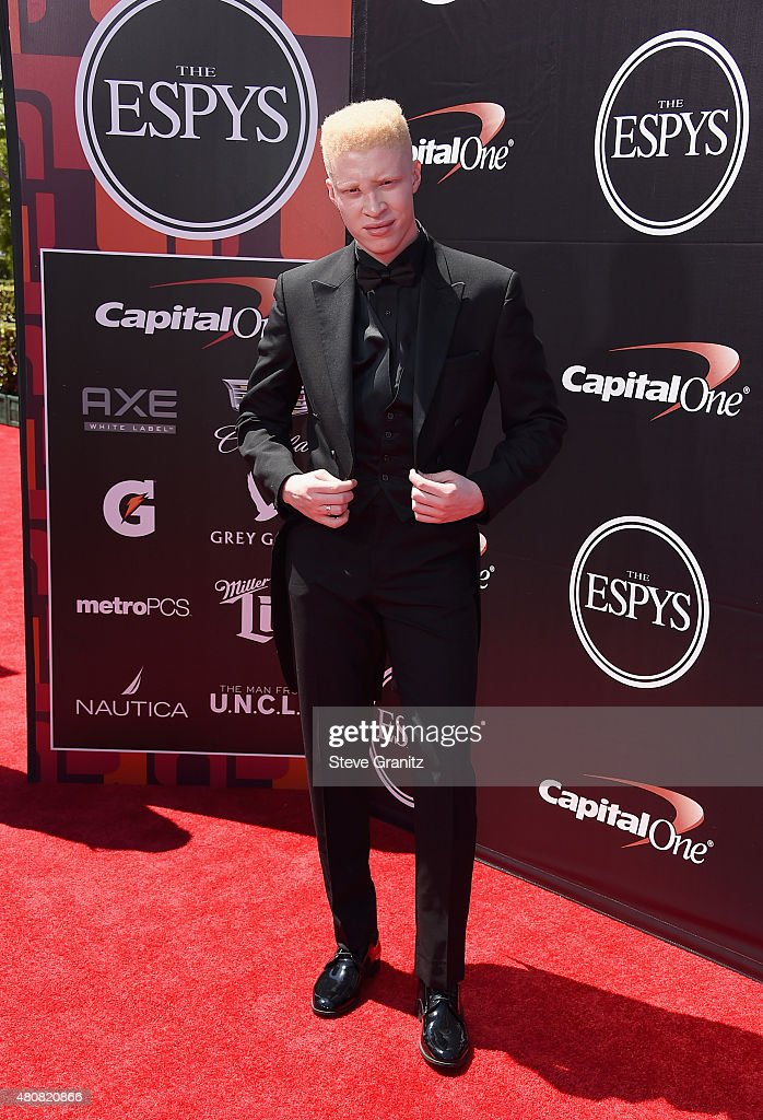 Model Shaun Ross attends The 2015 ESPYS at Microsoft Theater on July 15, 2015 in Los Angeles, California.