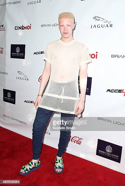 Model Shaun Ross attends the Accelerate4Change charity event presented by Dr Ben Talei Cinemoi on August 29 2015 in Beverly Hills California