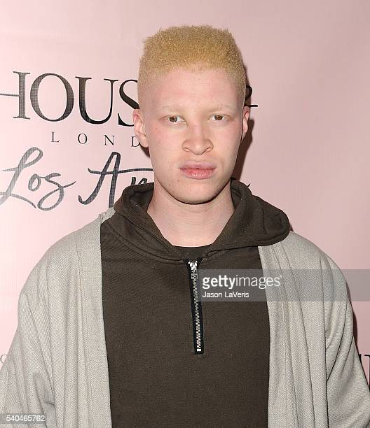 Model Shaun Ross attends the House of CB flagship store launch at House Of CB on June 14 2016 in West Hollywood California