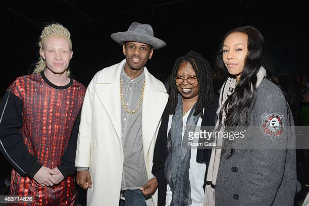 Model Shaun Ross, rapper Fabulous, Whoopi Goldberg and Jerzey Martin attends the Skingraft fashion show during Mercedes-Benz Fashion Week Fall 2015...