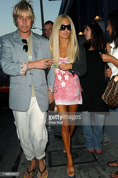 Model Shauna Sand leaves The Belmont on July 1 2008 in West Hollywood California
