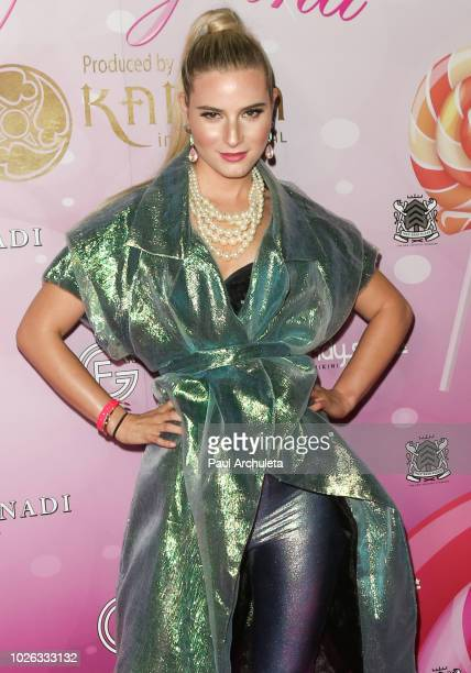Model Shelby Brooke attends the Karma International Kandyland event at Boulevard 3 on August 25 2018 in Hollywood California