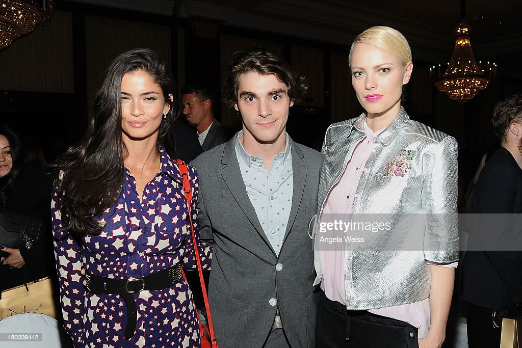 Model Shermine Shahrivar, actor RJ Mitte and model Franziska Knuppe attend the MICHALSKY StyleNite 2015 at Ritz Carlton on July 10, 2015 in Berlin, Germany.