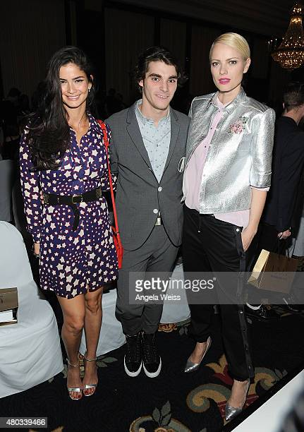 Model Shermine Shahrivar actor RJ Mitte and model Franziska Knuppe attend the MICHALSKY StyleNite 2015 at Ritz Carlton on July 10 2015 in Berlin...