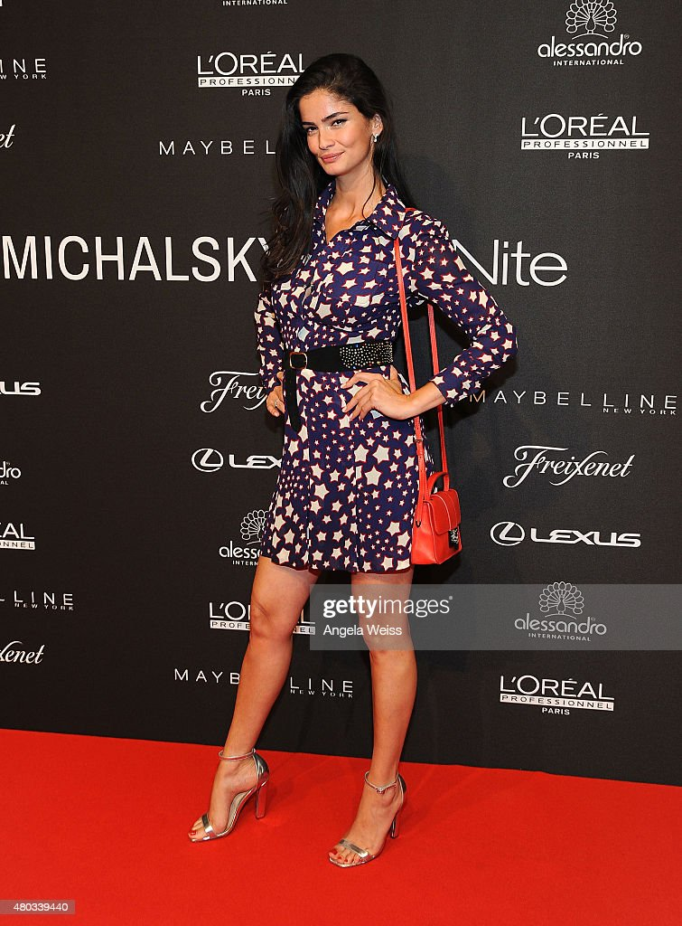 Model Shermine Shahrivar attends the MICHALSKY StyleNite 2015 at Ritz Carlton on July 10, 2015 in Berlin, Germany.