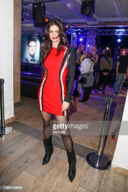 Model Shermine Shahrivar during the Rodenstock Eyewear Show 'A New Vision of Style' at Isarforum on January 24 2019 in Munich Germany