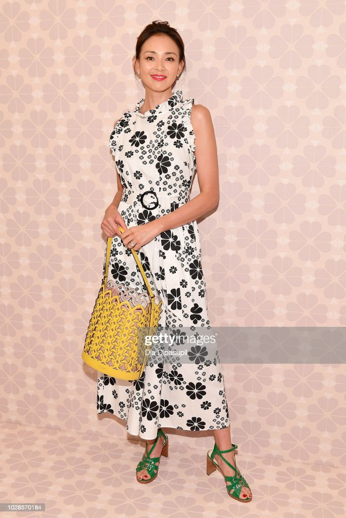 Model Shiho Yano attends the Kate Spade New York Fashion Show during New York Fashion Week at New York Public Library on September 7, 2018 in New York City.