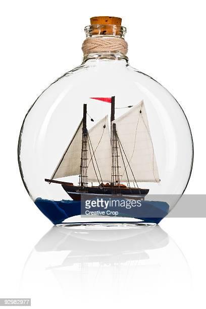 Model ship in a bottle