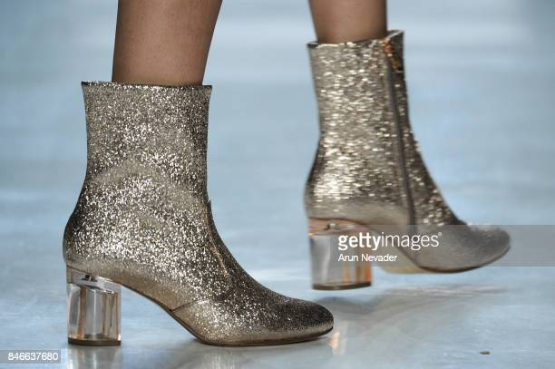 A model shoe detail walks the runway at the Marcel Ostertag fashion show during New York Fashion Week The Shows at Gallery 3 Skylight Clarkson Sq on...