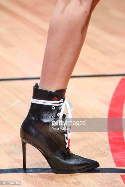 A model shoe detail walks the runway at the Monse fashion show during New York Fashion Week The Shows on September 8 2017 in New York City