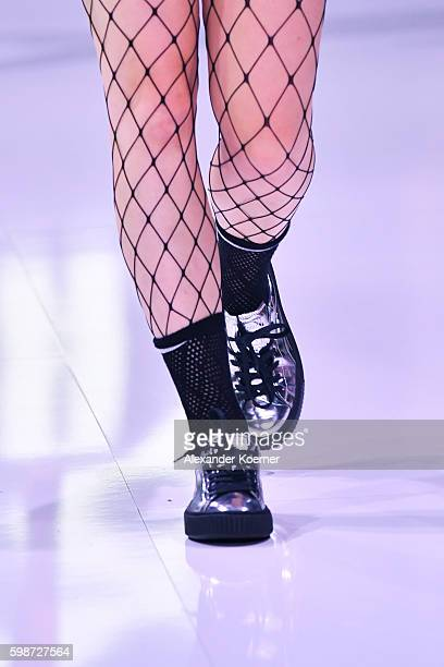 A model shoe detail walks the runway at the Puma fashion show during the Bread Butter by Zalando at arena Berlin on September 2 2016 in Berlin Germany