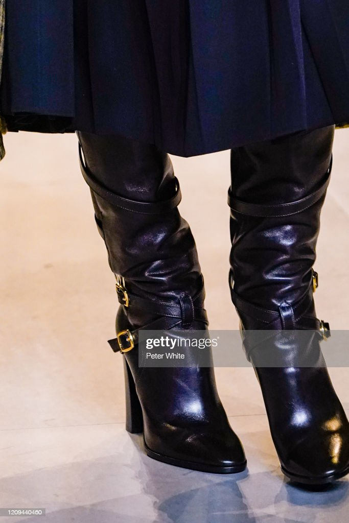 A Model Shoe Detail Walks The Runway During The Celine Show As Part News Photo Getty Images