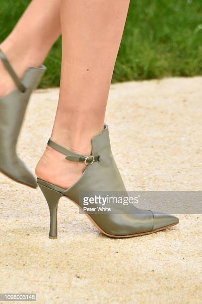 A model shoe detail walks the runway during the Chanel Spring Summer 2019 show as part of Paris Fashion Week on January 22 2019 in Paris France