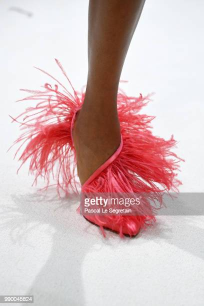 A model shoe detail walks the runway during the Giambattista Valli Haute Couture Fall/Winter 20182019 show as part of Haute Couture Paris Fashion...