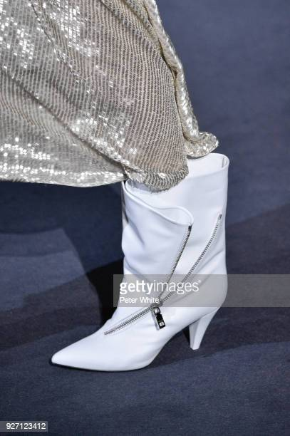 A model shoe detail walks the runway during the Givenchy show as part of the Paris Fashion Week Womenswear Fall/Winter 2018/2019 on March 4 2018 in...