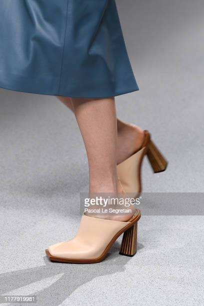 A model shoe detail walks the runway during the Givenchy Womenswear Spring/Summer 2020 show as part of Paris Fashion Week on September 29 2019 in...