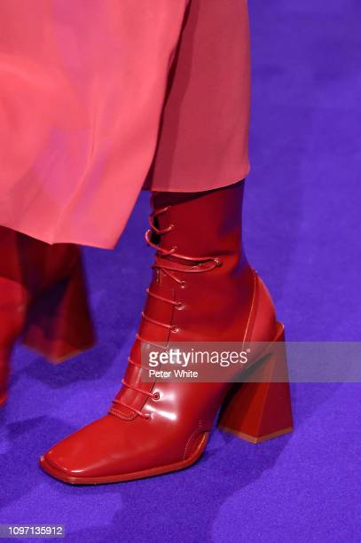 A model shoe detail walks the runway during the Kenzo Menswear Fall/Winter 20192020 show as part of Paris Fashion Week on January 20 2019 in Paris...