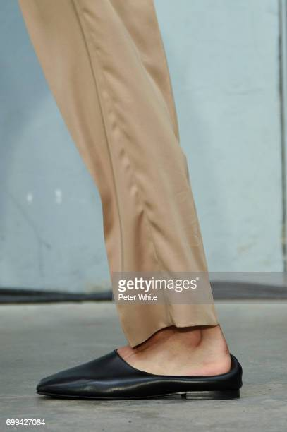 A model shoe detail walks the runway during the Lemaire Menswear Spring/Summer 2018 show as part of Paris Fashion Week on June 21 2017 in Paris France