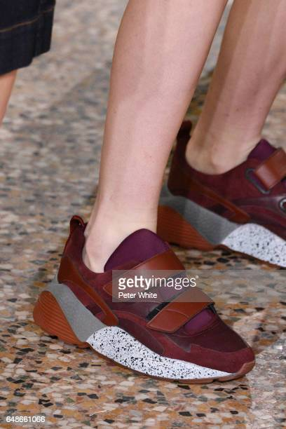 A model shoe detail walks the runway during the Stella McCartney show as part of the Paris Fashion Week Womenswear Fall/Winter 2017/2018 on March 6...