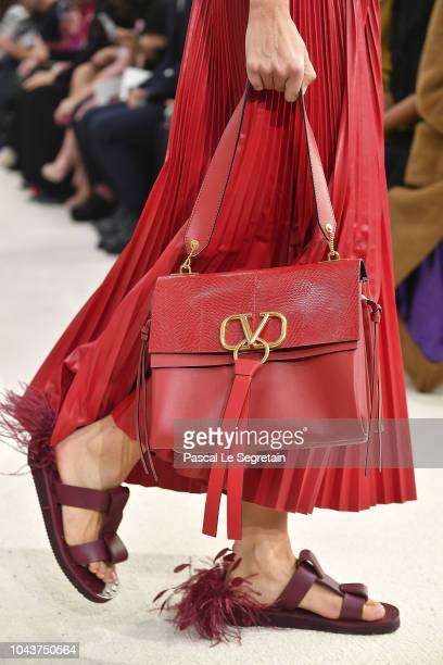A model shoe detail walks the runway during the Valentino show as part of the Paris Fashion Week Womenswear Spring/Summer 2019 on September 30 2018...
