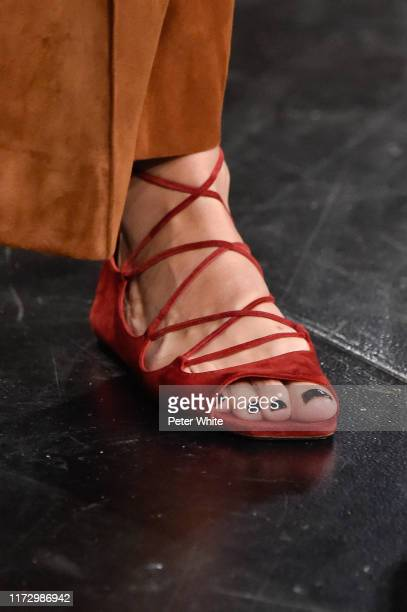 A model shoe detail walks the runway for Khaite during New York Fashion Week The Shows on September 07 2019 in New York City