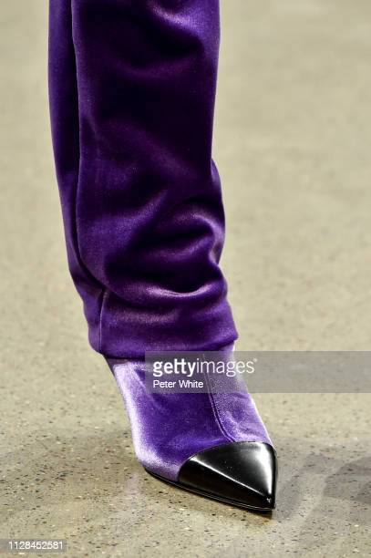 A model shoes detail walks the runway at the Chiara Boni La Petite Rose fashion show during New York Fashion Week on February 08 2019 in New York City