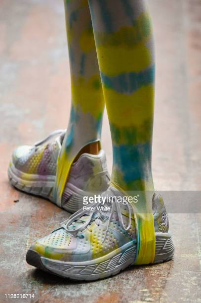 A model shoes detail walks the runway at the Collina Strada fashion show during New York Fashion Week on February 07 2019 in New York City