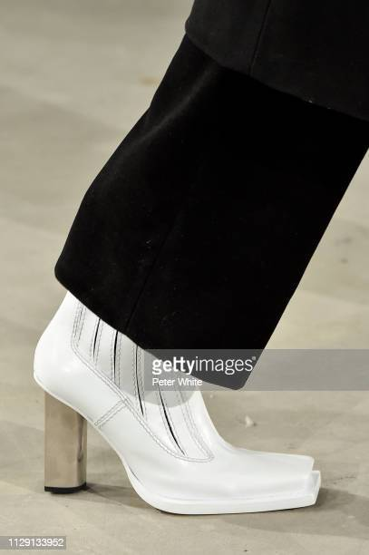 A model Shoes detail walks the runway at the Proenza Schouler fashion show during New York Fashion Week on February 11 2019 in New York City