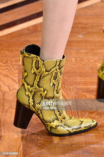 A model shoes detail walks the runway during the Andrew GN show as part of the Paris Fashion Week Womenswear Spring/Summer 2019 on September 28 2018...