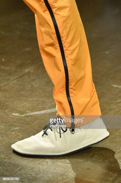 A model shoes detail walks the runway during the Kenzo Menswear Spring/Summer 2019 show as part of Paris Fashion Week on June 24 2018 in Paris France