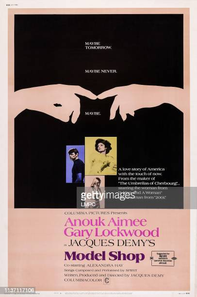 Model Shop poster US poster art from left Gary Lockwood Anouk Aimee Alexandra Hay 1969