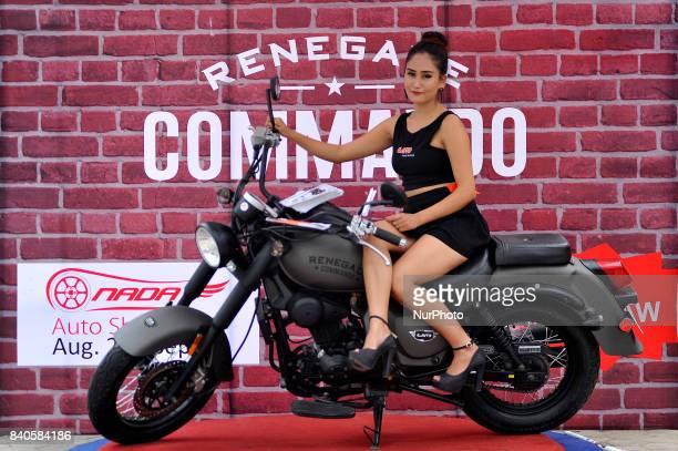 A model showcase UM Renegade Commando at the 12th Annual Nepals biggest NADA Auto at Bhikuti Mandap Kathmandu Nepal on Tuesday August 29 2017