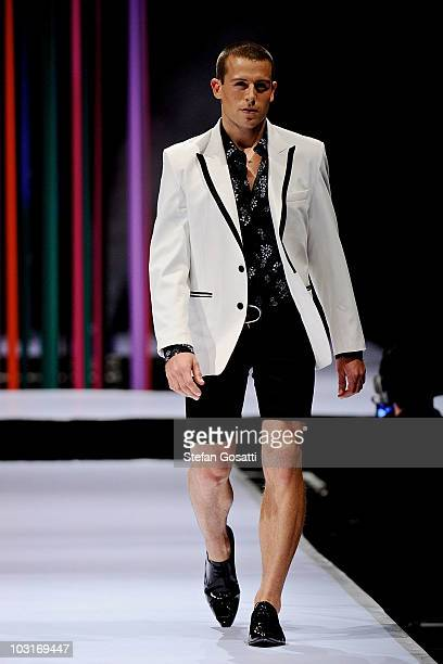 Model showcases a design by Ae'Lkemi on the catwalk during the StyleAid Perth Fashion Event 2010 at the Burswood Entertainment Complex on July 30,...