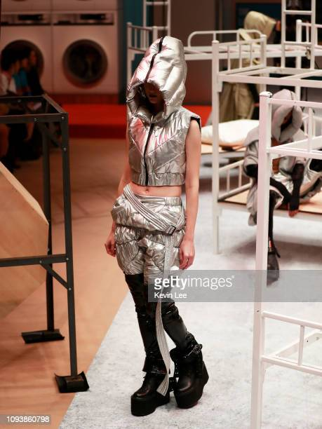 A model showcases a design by Alee Lee during the Hong Kong Fashion Week 2019 For Fall/Winter on January 14 2019 in Hong Kong Hong Kong